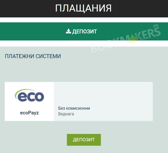 EcoPayz депозит